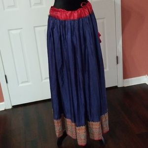 Dresses & Skirts - Long skirt ties at side/ No zipper or button